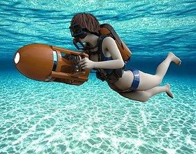 Scuba Diver II 3D