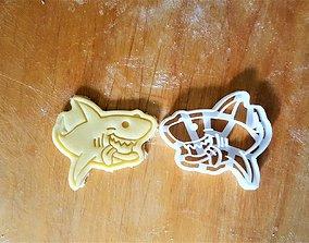 Shark cookie cutter 3D printable model