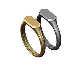 3D print model Hexagonal low profile signet ring