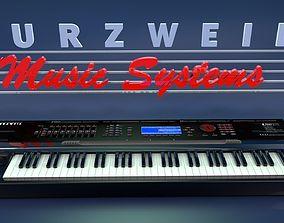 3D model Kurzweil k2500 Synthesizer