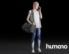 Humano Running Woman 0809 3D