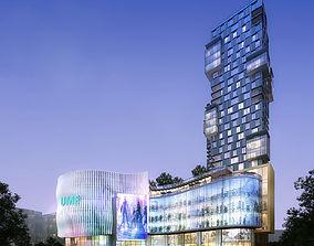 high 3D Skyscraper Business Center