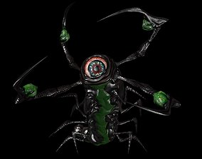 3D asset Monster Larva low poly