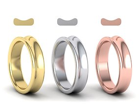 3D printable model Concave Classic wedding band 5mm wide