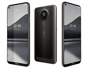 Nokia 3 Point 4 Charcoal 3D