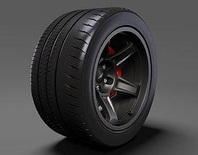 Dodge Challenger SRT Demon 2017 rearwheel 3D model