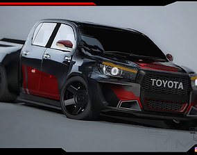 3D model Toyota Hilux pickup body Kit