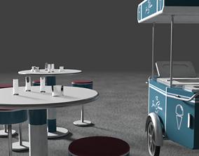 icecream 3D model Ice Cream Car