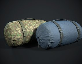 3D model Sleeping bag 2 color options