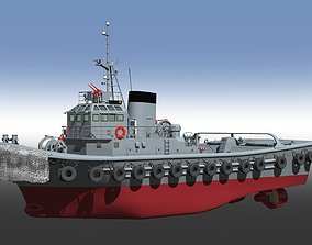Japan Maritime Self-Defense Force Type58 Tugboat 3D