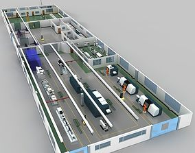 3D model Factory indoor and production equipment