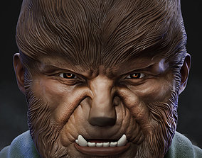 Wolfman bust statue 3D print model