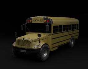 3D model SCHOOL BUS car