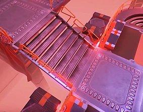 Combined Top-Down Sci Fi Level Construction 3D asset
