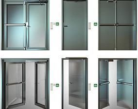 Metal fire doors panoramic 3D model
