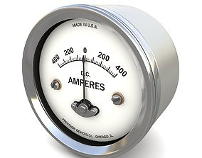 Vintage DC ammeter 18 3D