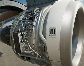 turbine engine A320 Neo 3D model