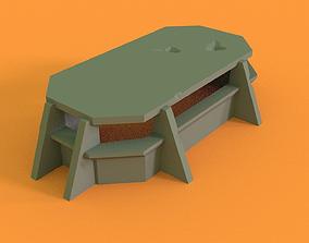 3D printable model Bunker for 28mm wargames like WH40K