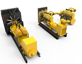 Diesel Engine Generator 3D