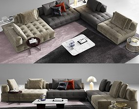 Minotti Lawrence Clan Seating Arrangements 3D