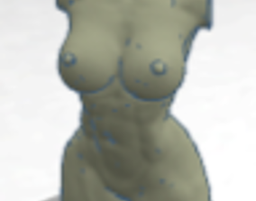 girl torso 3D printable model