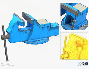 3D model Vice Holder PBR RIG animated