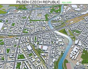 Pilsen Czech Republic 30km 3D model
