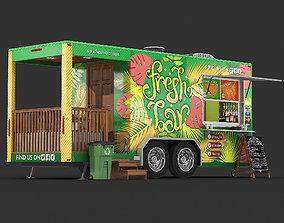 Food trailer 3D model
