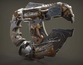 3D asset Steam Punk Plasma Gun