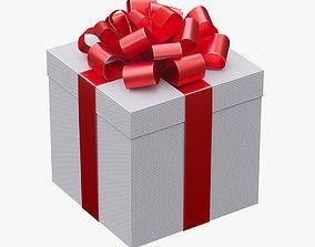 Christmas gift box 01 3D model