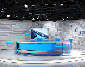 Virtual TV Studio 02 styled 3D model