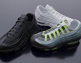 Nike airmax sneaker 3D asset low-poly