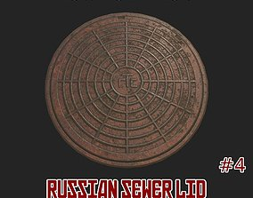 Russian sewer lid - 4 3D model