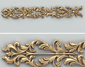 Carved decor horizontal 035 3D