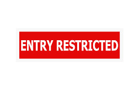 Entry Restricted 3D asset low-poly