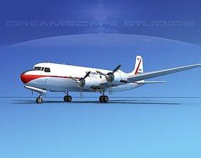 3D Douglas DC-6 USA First Cargo