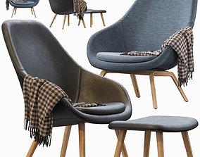 3D model stool HAY LOUNGE ARMCHAIR