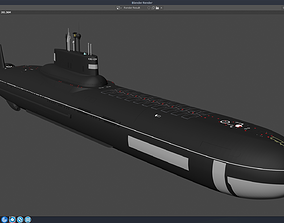 Russian Submarine Project 941 Akula - NATO 3D model