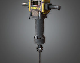 Jackhammer Construction 3D model
