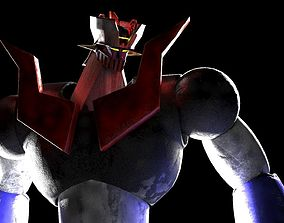 3D Mazinger - head body pilder - rigged and mapped