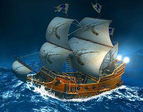 3D model realtime Sailing Ship