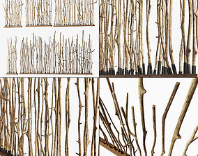 Branch crooked long wall decor n1 3D model