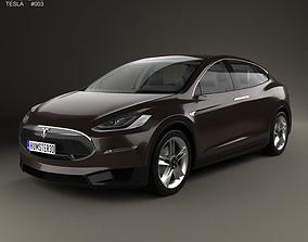 3D Tesla Model X 2014