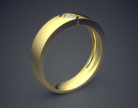 3D printable model Classical Golden Ring With Cuts and 1