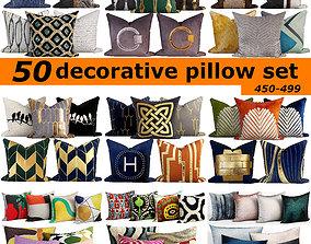 50 Decorative set pillow 450-499 3D