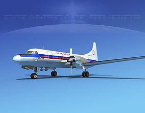 Convair CV-580 Lake Central 3D