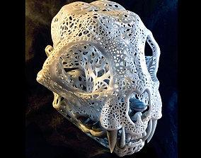3D printable model Filigree Anatomical Bobcat Skull - 1