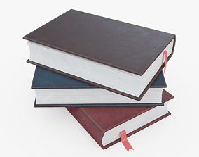 Stack of Books 3D asset VR / AR ready