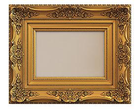 3D Frame picture gold v9