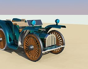 3D model low-poly vintage car